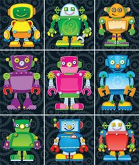 Stickers - Robots Prize Pack - Pk 216  CD168063