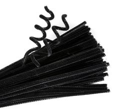 Chenille Stems Black Pk 100 9314289015077