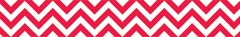Border - Poppy Red Chevron  CTP0162