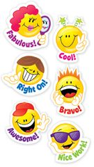 Stickers - Smiley Faces - Pk 60 CTP4113