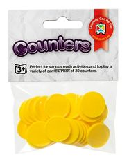 Counters Yellow pack of 30 9314289023669