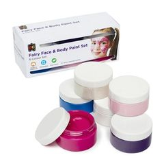 Fairy Face & Body Paint Set of 6 x 50ml 9314289031367