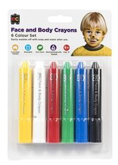 Face and Body Crayons Set of 6 9314289029845
