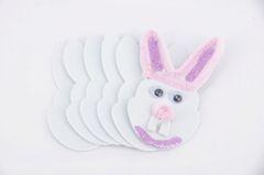 Foam Shapes Rabbites White Pk 50 (Pack of 50, White) 9320325626701