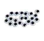 Joggle Eyes 12mm Pk 100  (Pack of 100, Black and White, 12mm) 9314812105367