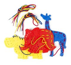 Lacing Shapes - Elephant, Giraffe & Hippopotamus 9314289008772