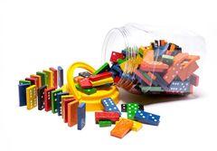 Dominoes Wooden Jar 168 9314289021245