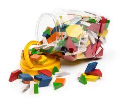 Pattern Blocks Wooden Jar of 250 9314289021498