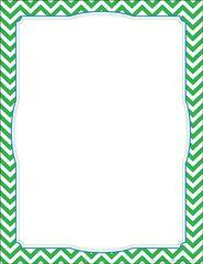 Border Chart - Chevron Green  LL855CH