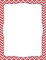 Border Chart - Chevron Red  LL856CH