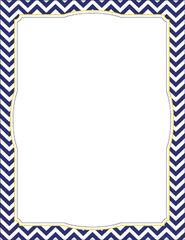 Border Chart - Chevron Navy  LL857CH