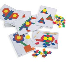 Pattern Block Picture Cards 20pcs 9314289021597