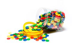 Counters Small 4 Colour Jar of 1000 9314289015718
