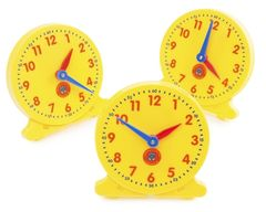 Clocks Analogue Student 10cm Diam Set of 6 9314289020941