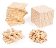 Woodbase Ten Set 100 Cubes 10 Rods 10 Flats 1 Base 4710953447574