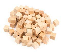 Pattern Blocks Woodenbase Ten Cubes 100pc 9314289021429