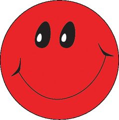 Stickers - Smiley Red - Pk 100  MAG074