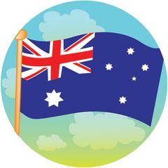 Stickers - Australian Flag Merit - Pk 100  MAG101