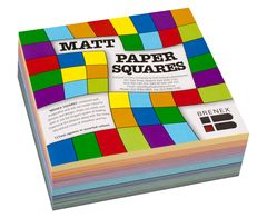 Paper Squares 127mm (Pack of 360, Assorted Colours, Matt) 9310703801301