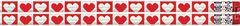 Pencils - Hearts Glitter - Pk 12  PCLD1153P12