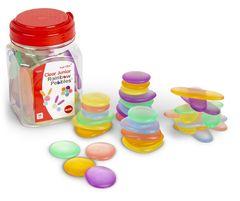 Clear Junior Rainbow Pebbles 36 in a jar 4713057204135