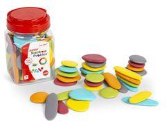 Junior Rainbow Pebbles Earth Colours 36 in jar 4713057204142