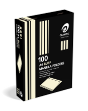 Manilla Folder A4 Box 100 Buff - Olympic 9310353345644