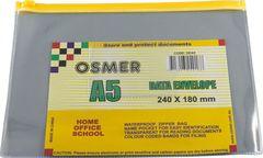 Data Envelope A5 Osmer 240X180mm Plastic Slide Zip *Each* 9313023240188