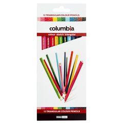 Colour Pencils Triangular Pk 12 Colour Sketch Columbia 9310924197382