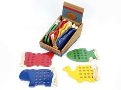 Lacing Animal Assorted Kaper Kidz 6901382076383