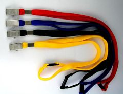 Lanyards Pk 20 Asst Cols Alligator Clip Osmer -Tubular Woven Polyester & Safety Release 9313023201196