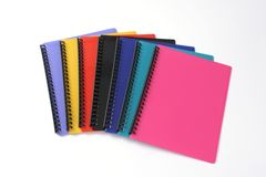 Display Book - A4 Refillable A4 20 Pocket Tudor Assorted Ribbed Colours  9310029318095