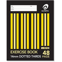 Exercise Book 9x7 48 Page Olympic Stripe 14mm Dotted Thirds Stapled 225mmx175mm [D2144] 9310353002073