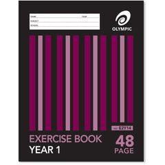 Exercise Book 9x7 48 Page Olympic Stripe Year 1 Qld Rule Stapled 225mmx175mm [E2Y14] 9310353003070