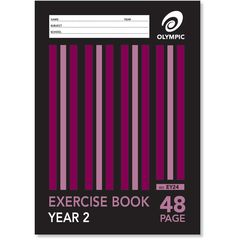 Exercise Book A4 48 Page Olympic Stripe Year 2 Qld Rule Stapled [EY24] 9310353004015