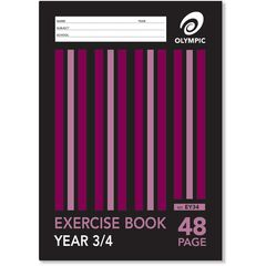 Exercise Book A4 48 Page Olympic Stripe Year 3&4 Qld Rule Stapled [EY34] 9310353004022