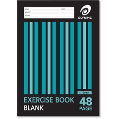Exercise Book A4 48 Page Olympic Stripe Plain Unruled Stapled [E048] 9310353004442