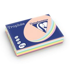 Trophee Copy Paper A4 80gsm Pk 250 Sheets Light Assorted