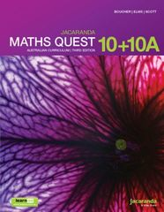 Jacaranda Maths Quest 10+10A Australian Curriculum learnON & Print