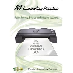 Laminating Pouches A4 Pk 100 80 Micron - Gold Sovereign 9341025000172