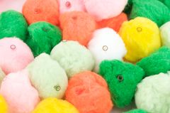 Pom Poms (with holes for threading) Pk 50 38mm Asst Cols 9320325426776