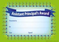 Certificates - Assistant Principal Award  - Pk 35 CE329