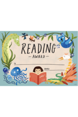 Certificates - Card - Wild Creatures Reading Award - Pack of 100