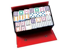Dominoes Set of 91 12 x 12 Coloured Dots 2770000066464
