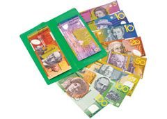Money Notes Pack of 100 + Wallet Australian 9337138105040