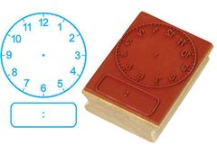 Stamp Clock 50mm Digital + Analogue Hours + Minutes 9337138100991