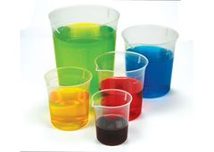 Graduated Beakers Set of 5 Clear 2770000070249