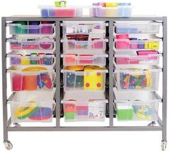 Numeracy Centre - Storage Trolley with 15 Trays