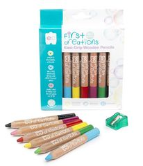 Colour Pencils Wooden Pk 6 Easi-Grip  9314289030421