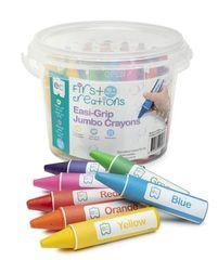 First Creations Easi-Grip Jumbo Crayons Tub 32 9314289008963